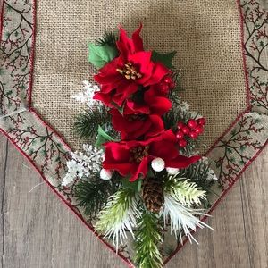 Handmade Burlap Christmas Runner